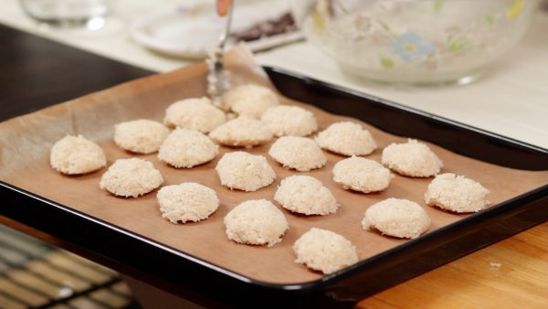 You'll have about 20 coconut macaroons in total.