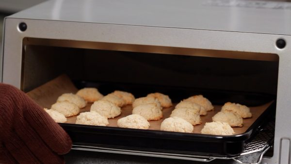 To help brown the pieces evenly, you can rotate the tray after about 20 minutes.