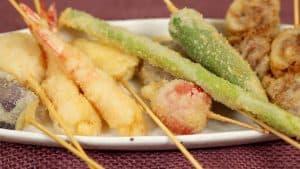 Kushikatsu Recipe (Deep-Fried Skewered Meat and Vegetables with Savory Homemade Sauce)