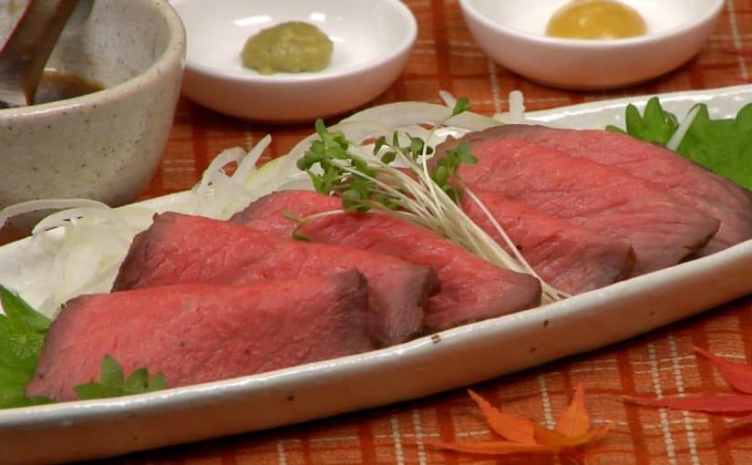 Easy Roast Beef Recipe (Japanese-inspired Roast Beef with Savory Dashi Sauce)