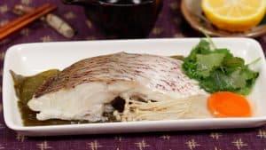 Tai Kombu-mushi Recipe (Steamed Sea Bream on Kombu Seaweed)