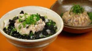Aji Namero and Namero Chazuke Recipe (Minced Horse Mackerel Mixed with Seasonings)