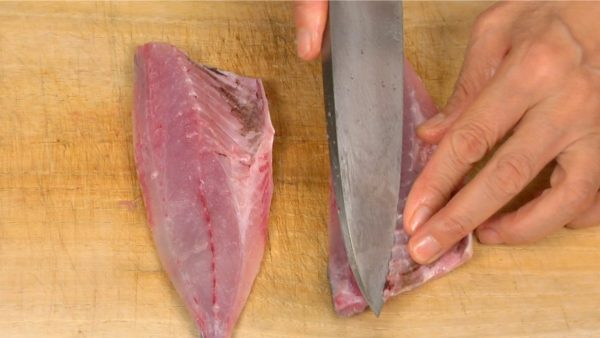 Remove the rib bones from both fillets.