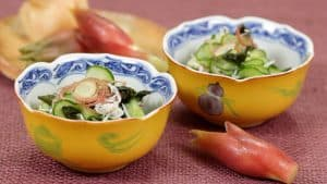 Cucumber Sunomono Recipe (Marinated Cucumber and Myoga Ginger Bud)