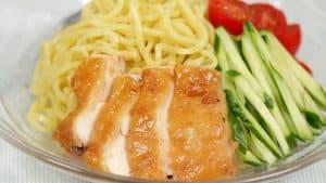 Ricetta Facile per Pollo Char Siu e Tsukemen al Pomodoro (Pollo Chashu in Stile Giapponese e Noodles per Ramen con Salsa al Pomodoro)