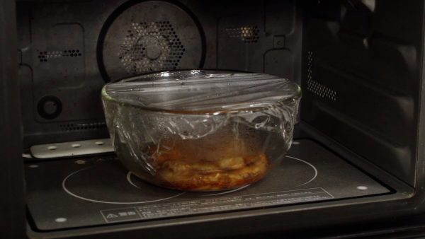 Microwave it for 3 more minutes. Covering only half of the container will help to reduce the excess moisture.