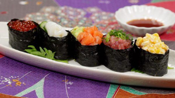 Gunkan Maki Sushi Recipe (5 Types of Colorful Battleship Sushi)