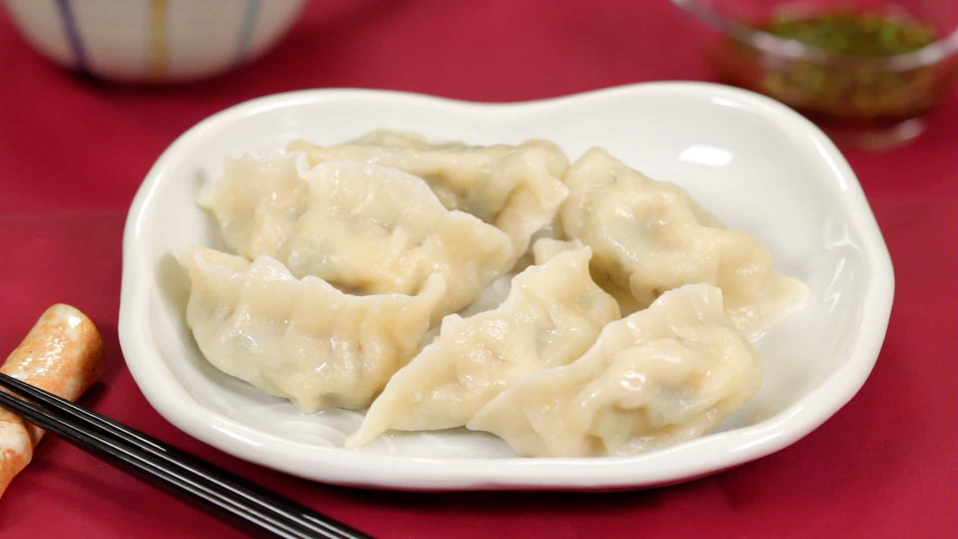 Sui Gyoza Recipe Boiled Shrimp And Pork Dumplings Jiaozi Cooking With Dog