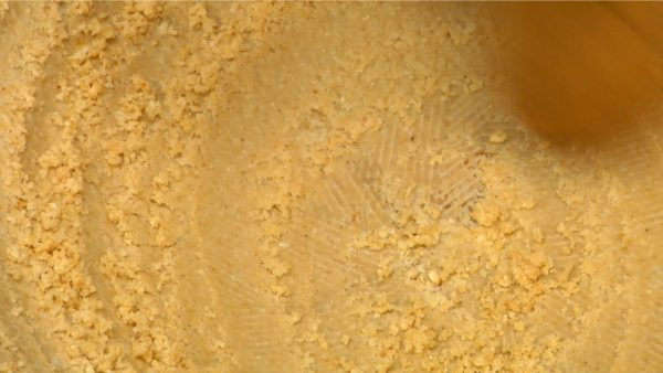 The sesame paste will turn creamy because of it's oil content.