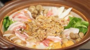 Công thức Tantan Nabe ( Lẩu thịt lợn và rau củ cùng nước dùng Dandan)