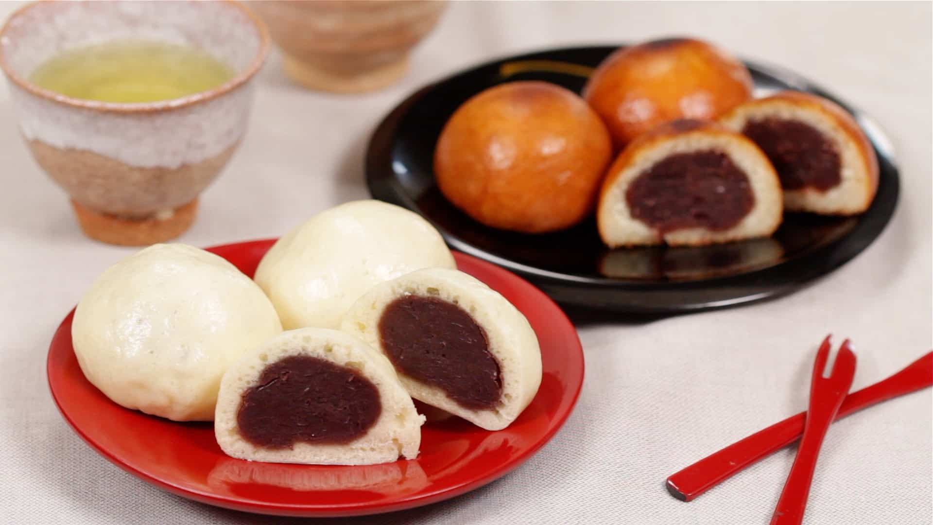 Mushi Manju Recipe Japanese Steamed Buns With Red Bean Paste Filling Cooking With Dog