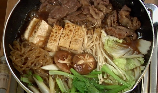Kanto Style Sukiyaki Recipe Beef And Vegetable Hotpot Cooking With Dog